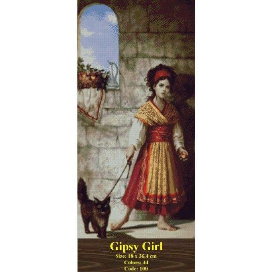 Gobelin Tapestry Set Gipsy Girl http://gobelins-tapestry.com/portraits/847-gipsy-girl.html