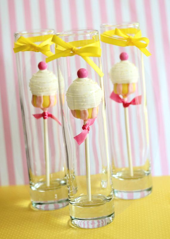 Pastel Pink Lemonade Cake Pop things you might wanna make on a hot summer