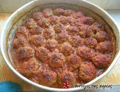 Baked Meatballs. Κεφτεδάκια Φούρνου #sintagespareas