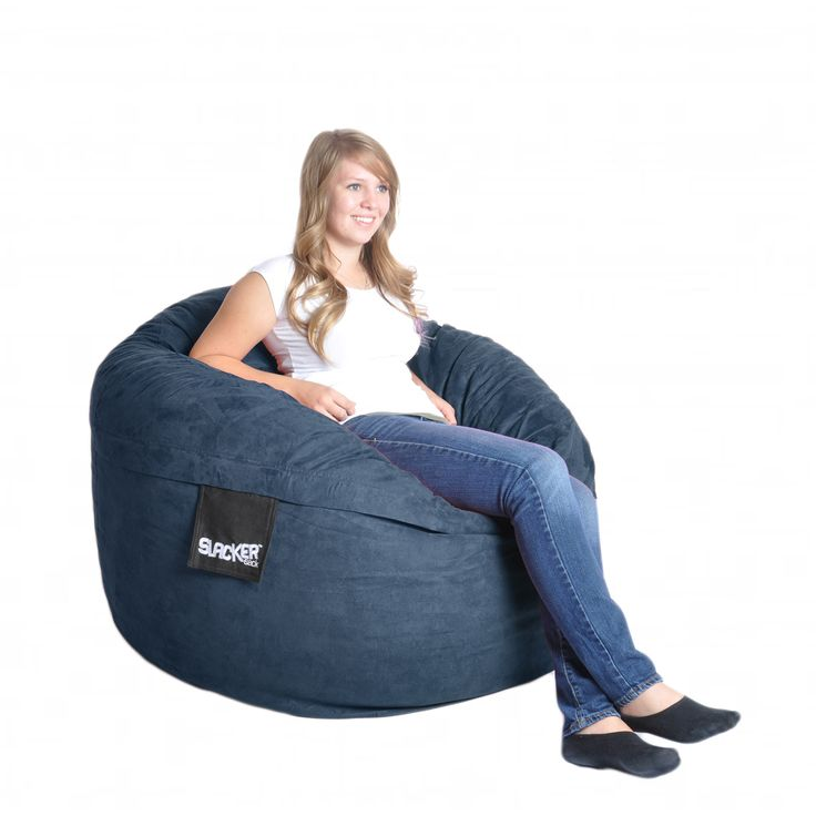 169 Navy Blue 4 Foot Microfiber And Memory Foam Bean Bag