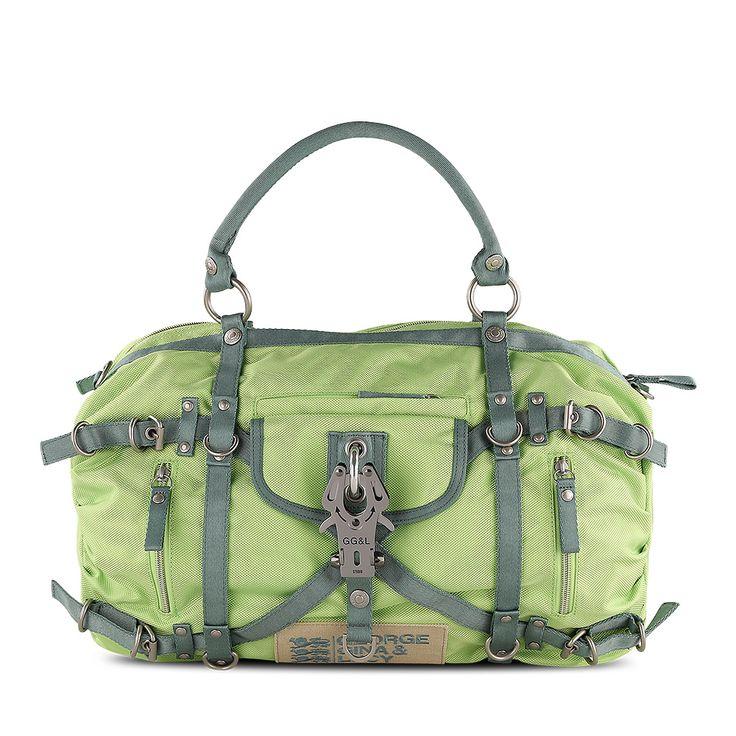 Handtasche Xciting Kanji, Karabiner, zweifarbig, Nylon, Newylon, George Gina & Lucy