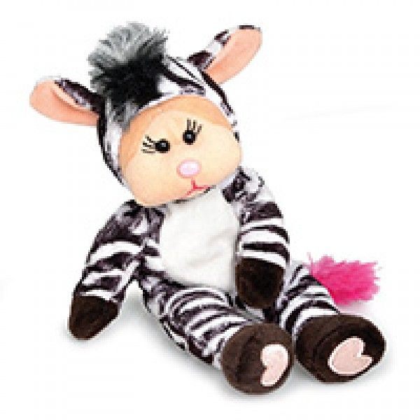 Zara The Zebra Bear - Pink Nose