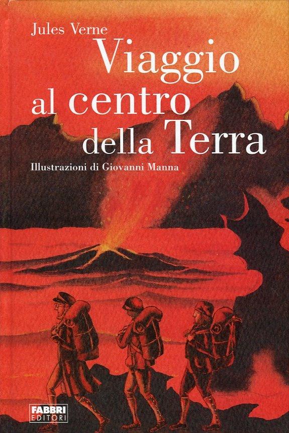Viaggio al centro della terra; copertina - Giovanni Manna