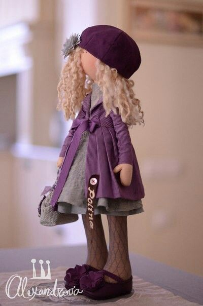 purple & grey - love it! Alicia #dressadolluk #dolls