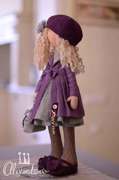 purple & grey - love it! Alicia #dressadolluk #dolls
