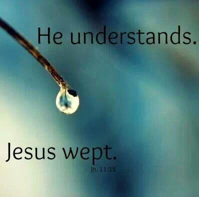 Jesus Wept. John 11:35
