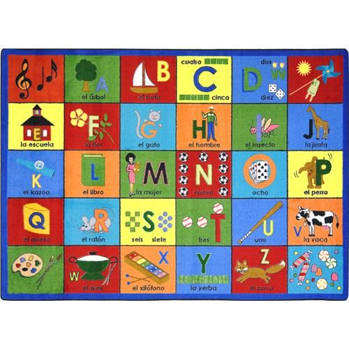 help your students practice phonetic sounds and learn a second language with this unique teaching rug