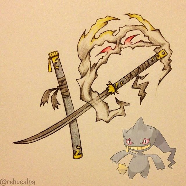 Pokeapon No. 354 - Banette. #pokemon #banette #nodachi #pokeapon #katana