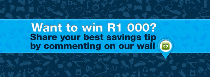 The monthly R1000 giveaway.