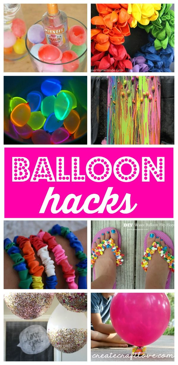 These Balloon Hacks are sure to spice up your summer!  via createcraftlove.com
