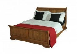 French Oak 4'6 Bed-http://solidwoodfurniture.co/product-details-oak-furnitures-384-french-oak-bed.html