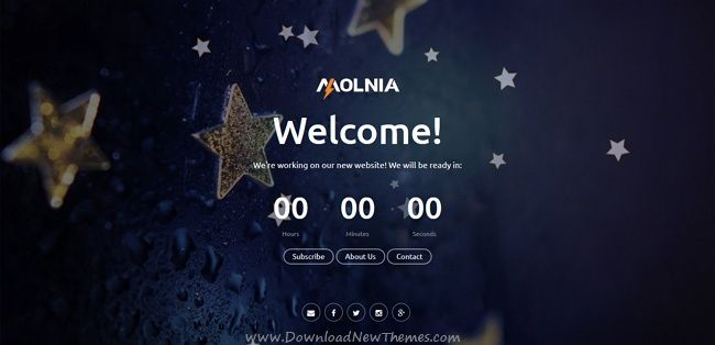 Molnia is a wonderful #HTML template for coming soon / #underconstruction website with countdown timer, subscription, mail form, gallery, social icons and beautiful effects download now➩ https://themeforest.net/item/molnia-coming-soon-html-template/19852347?ref=Datasata