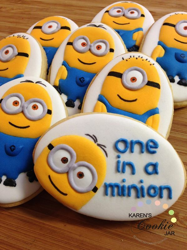 Minion / Despicable Me decorated cookies Karen's Cookie Jar on Facebook
