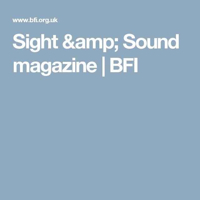 Sight & Sound magazine | BFI
