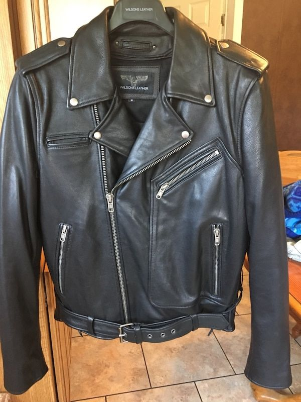 756b2c1f0 Men's Medium Wilson's Leather Biker Jacket | TD Homeschool Mom of 2 ...