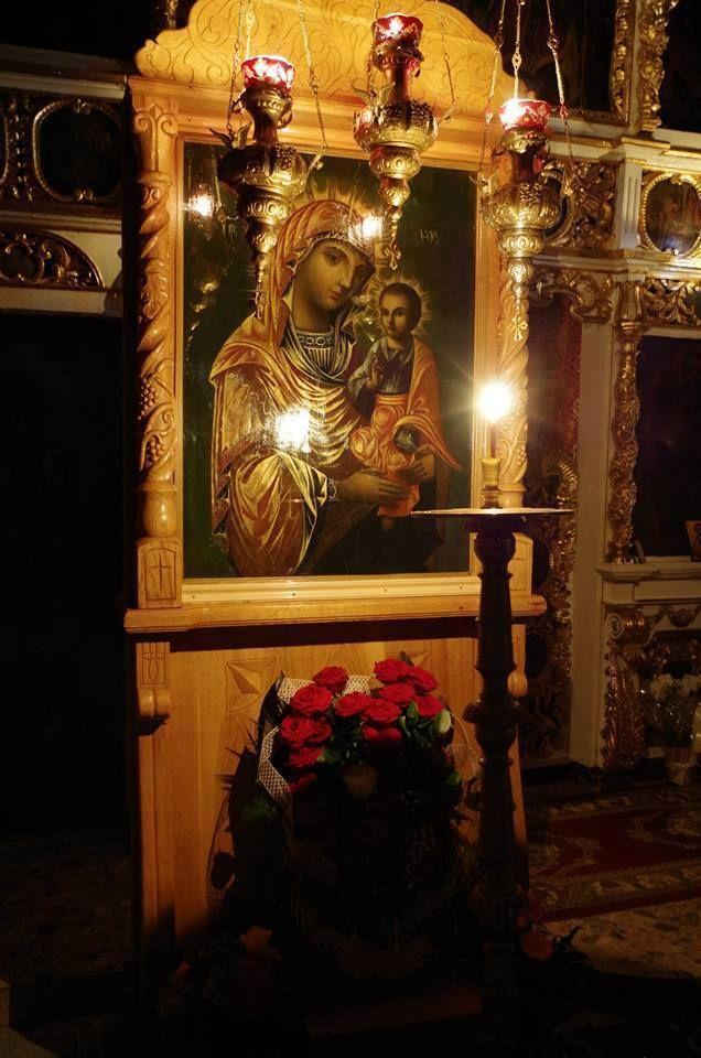 Icoana facatoare de minuni a Maicii Domnului la Manastirea Bujoreni