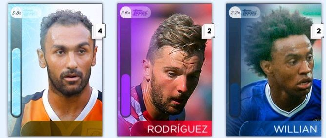 2017 Topps KICK Frost William Rodriguez Ahmed 3X Digital Cards