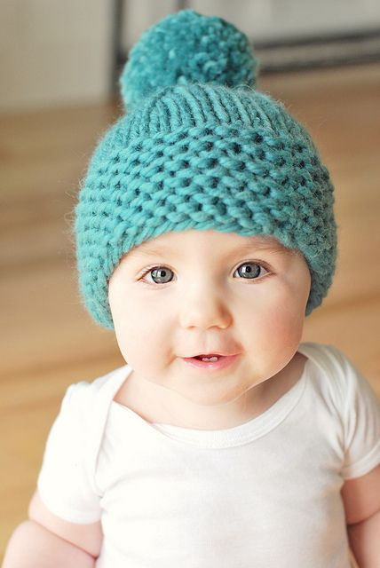 pixie purls baby hat pattern. Love this one by modernmegpie, via Flickr  What a cute babie!