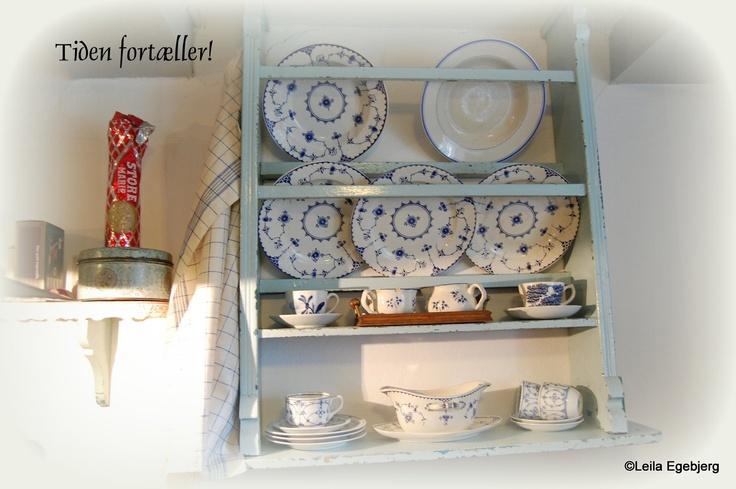 Plate Shelf / Tallerken hylde i mintgrøn