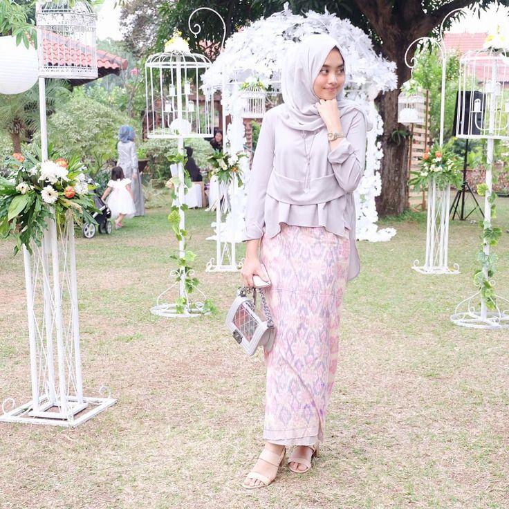 """at the wedding ( @olasvi ) yesterday afternoon, wearing lana top from @nrh.fornabilia"" ig @nabilahatifa"