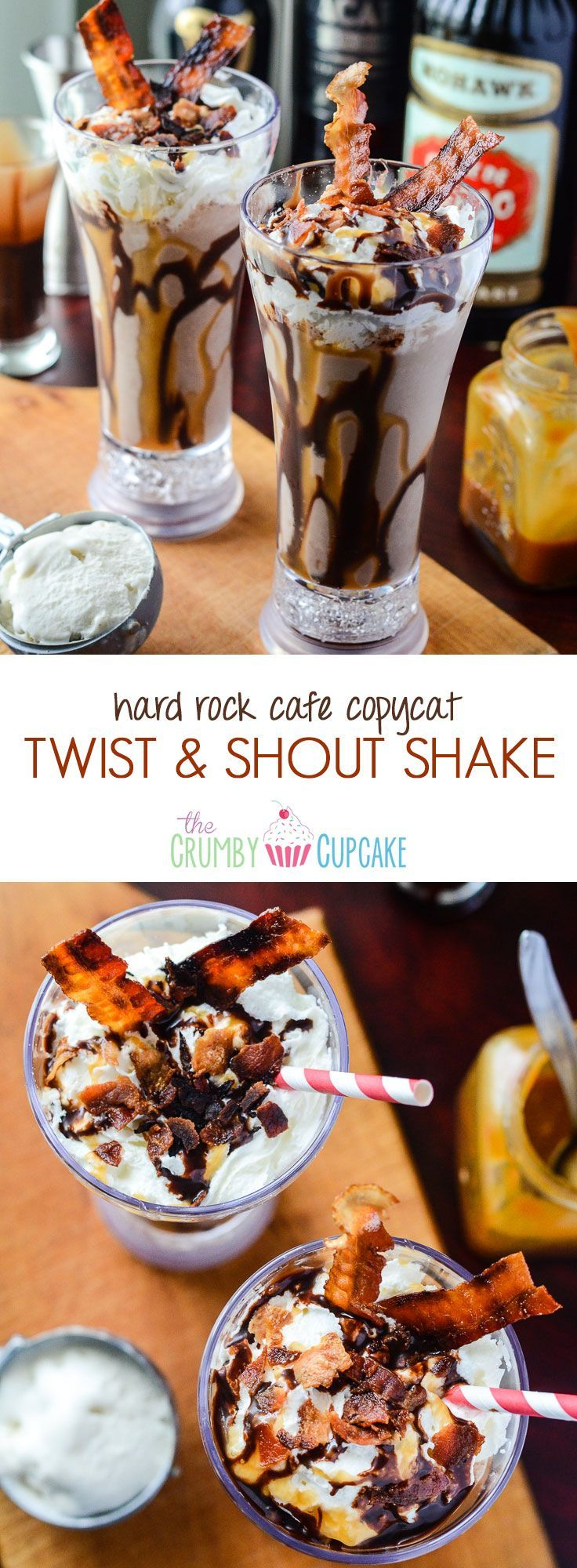 Twist & Shout Shake | A Hard Rock Cafe copycat, this boozy milkshake combines ch…