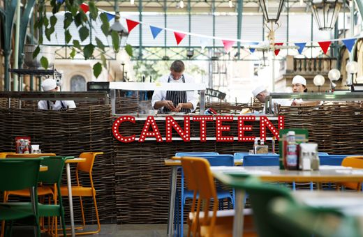 RESTAURANT: CANTEEN (COVENT GARDEN) Like this look and love the name and sign