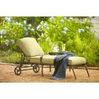 Hampton Bay Edington Cast Back Adjustable Patio Chaise Lounge with Celery Cushions 141-034-CLCB-KD at The Home Depot - Mobile
