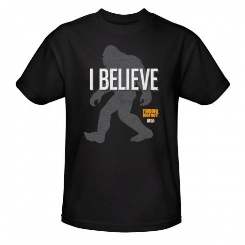 Finding Bigfoot I Believe T-Shirt - Black
