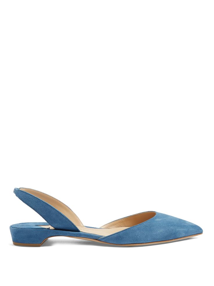 Rhea suede slingback flats | Paul Andrew | MATCHESFASHION.COM UK