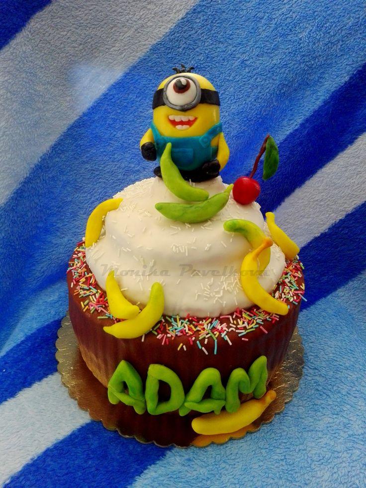 Minion cupcake CAKE. DORT mimoň.