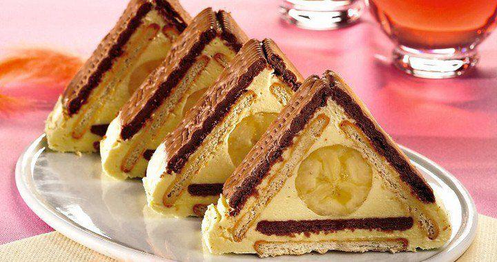 Banános-kekszes piramis