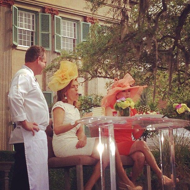 Hoda & Kathie Lee savoring Peninsula Grill's infamous coconut cake #klgandhodacharleston
