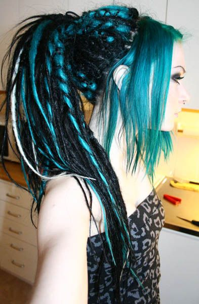 Cyber Goth Tumblr Synthetic Dreads In 2019 Dreadlock Hairstyles Goth Hair Hair Styles