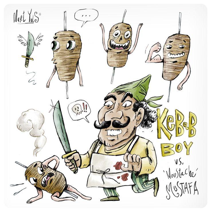 en Berlin, el auténtico paraíso de los Kebabs, tras sufrir una sobredosis de faláfel uno acaba dibujando cosas como ésta.. ~