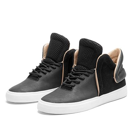 Supra Falcons Black leather colorway (Hidden Hype)