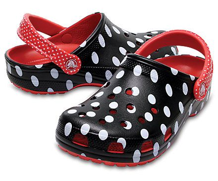 Show your young-at-heart style while staying comfortable with Crocs' Classic Minnie™ Rocks the Dots Clogs. Shop these Minnie Mouse™ shoes for women today.