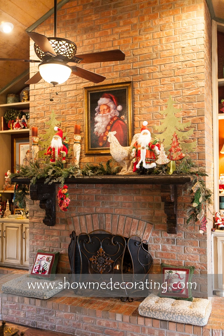 French Country Christmas Mantle   Christmas   Pinterest