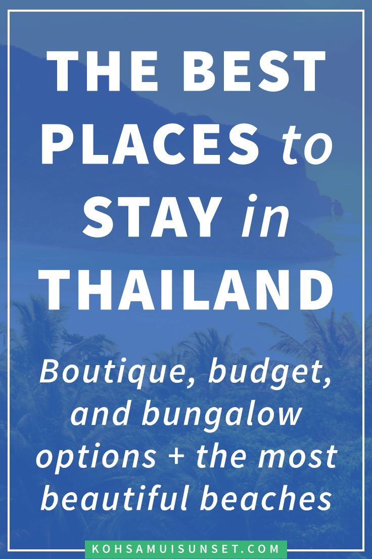 Where to stay in Thailand? The best, boutique and budget hotels in Thailand – Click through to read more: