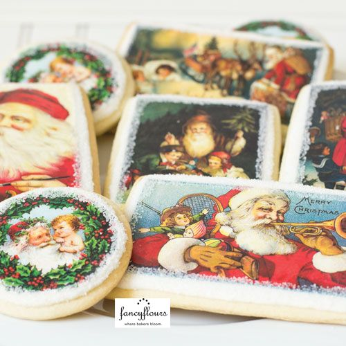These Sugar Cookies Were Made Using Or Edible Wafer Paper With