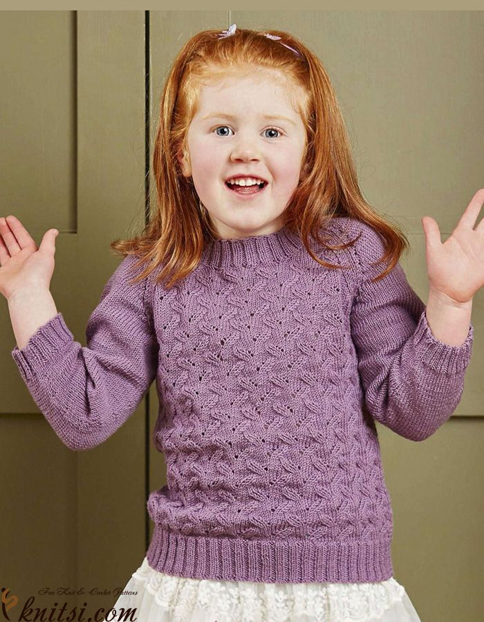 Perfecto Free Knitting Patterns For Girl Sweaters Galería - Manta de ...