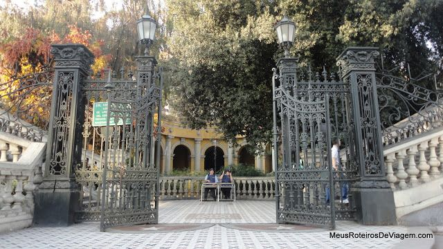 Portão principal do Cerro Santa Lucía