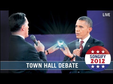 Town Hall Debate Songified- I'm so not embarrassed that I skip debates and catch up with the schmoyoho version.  :)  Love the Gregory brothers!