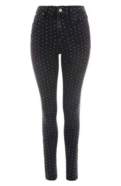 Main Image - Topshop Jamie Diamante Skinny Jeans
