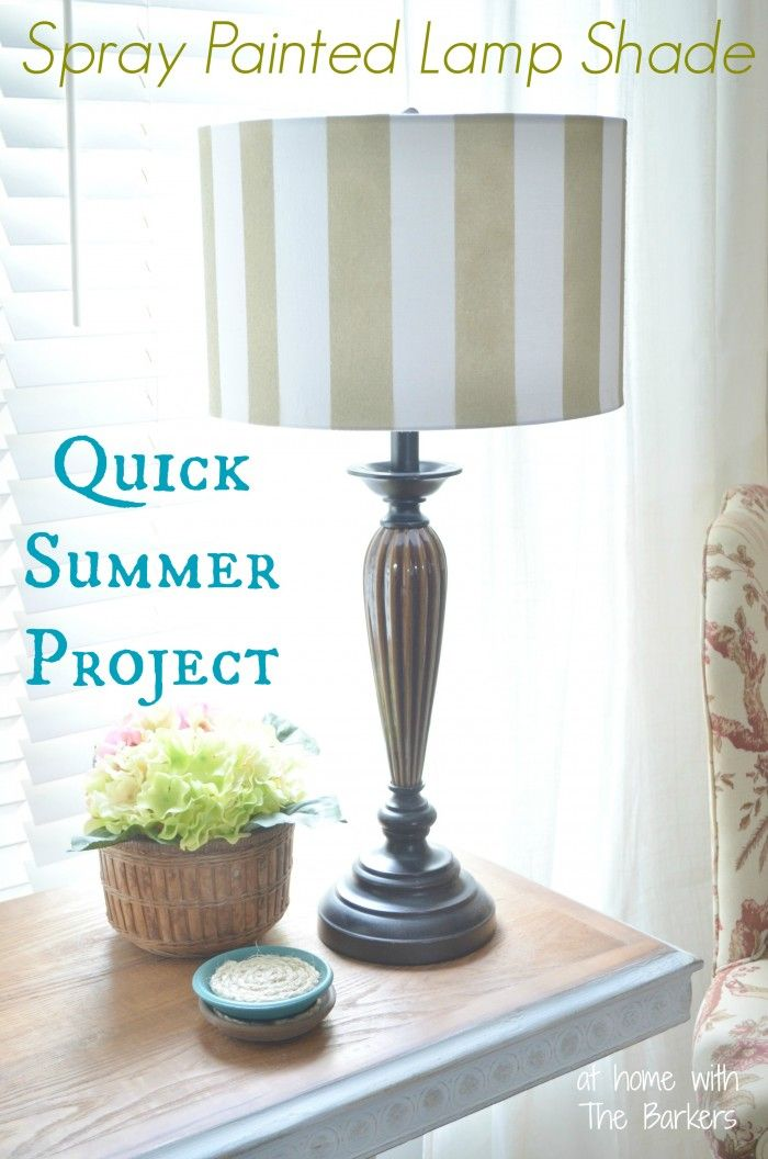 Best 25 spray paint lamps ideas on pinterest paint for Lamp shade painting ideas