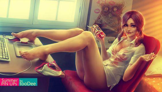 Super sexy y atractiva chica pelirroja con cosplay o disfraz de Evangelion - Buscar con Google