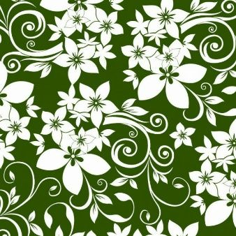 floral ornament on green background