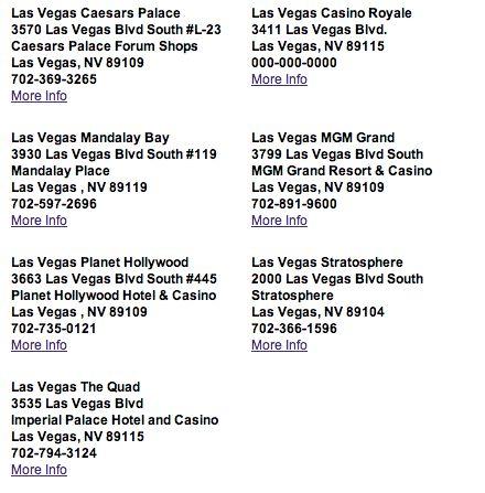 Fat Tuesday Las Vegas locations