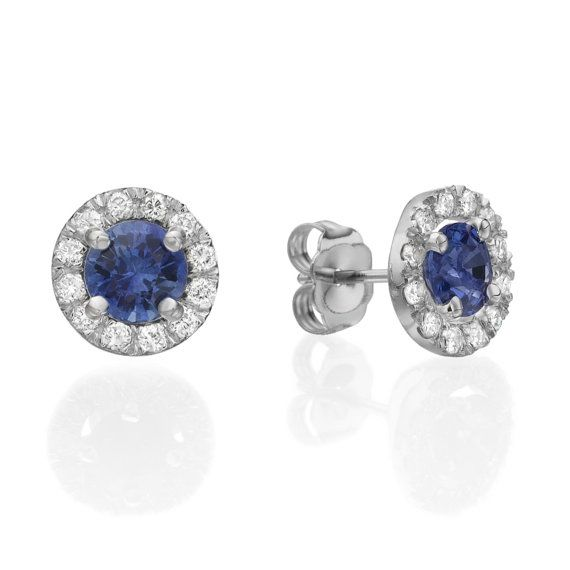 Diamond Earrings 2 In 1 Blue Shire