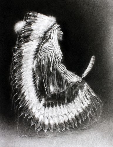 Chief from the Blackfeet Teton band of the Lakota Sioux, later presiding as a Lakota chief. His warrior name was Ma-tow-a-tak-pe or Charging Bear and he fought at the Battle of the Little Bighorn.