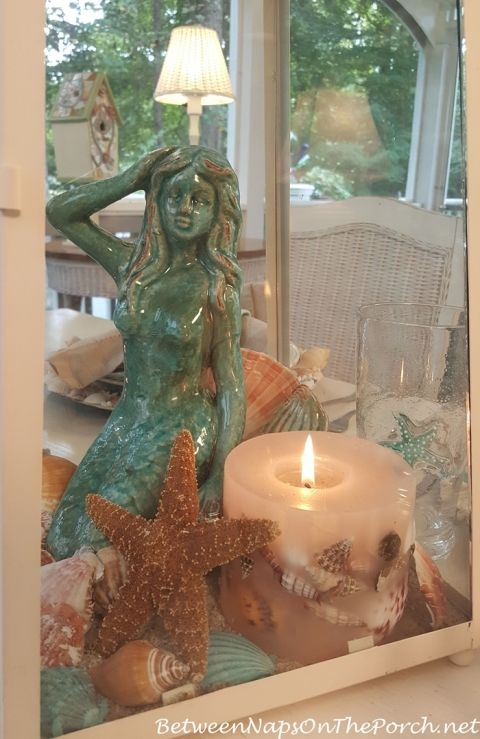 Mermaid & Shell Centerpiece for Nautical or Beach Table Setting